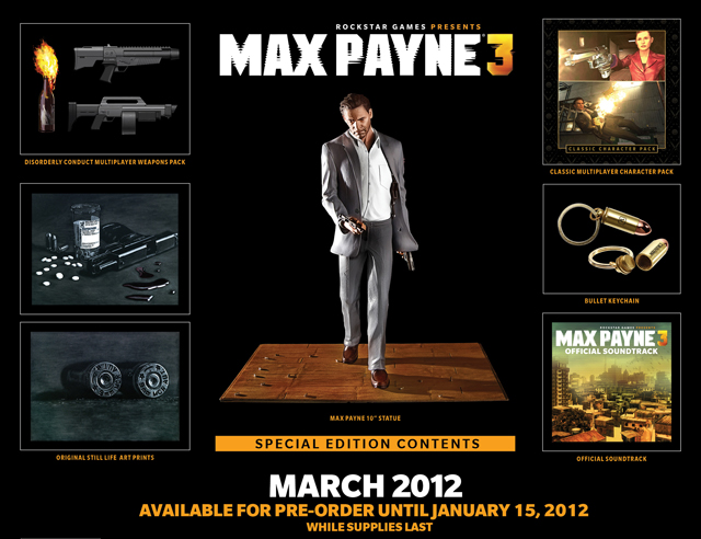 Max Payne 3 S Extremely Limited Special Edition Gamer Crash