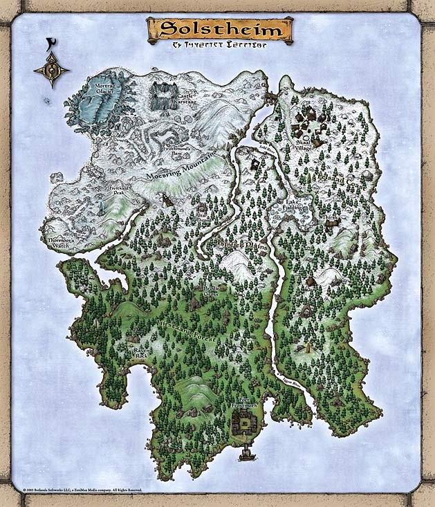 Solstheim Haritası