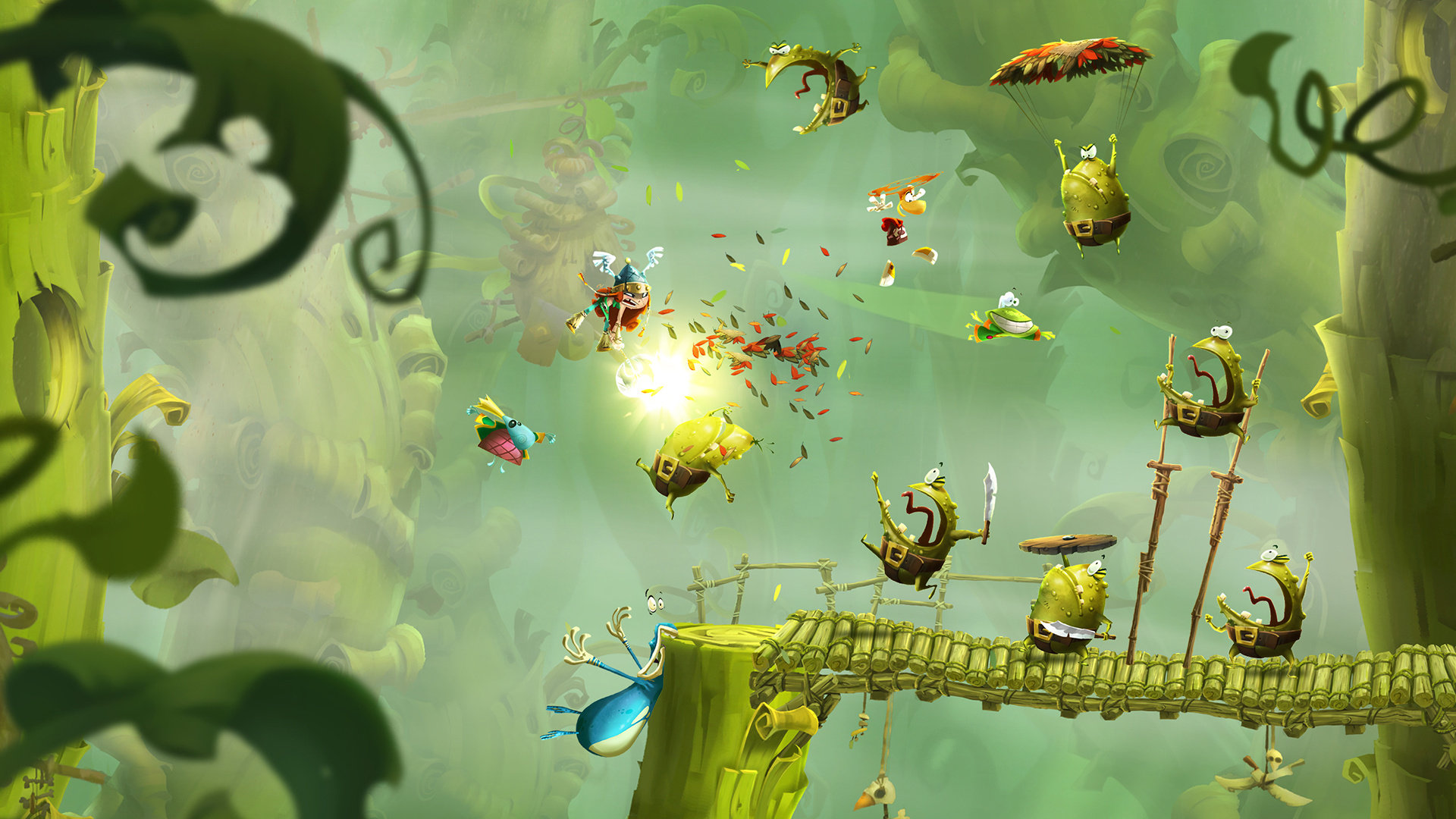 Rayman Legends Impressions Putting Mario Notice