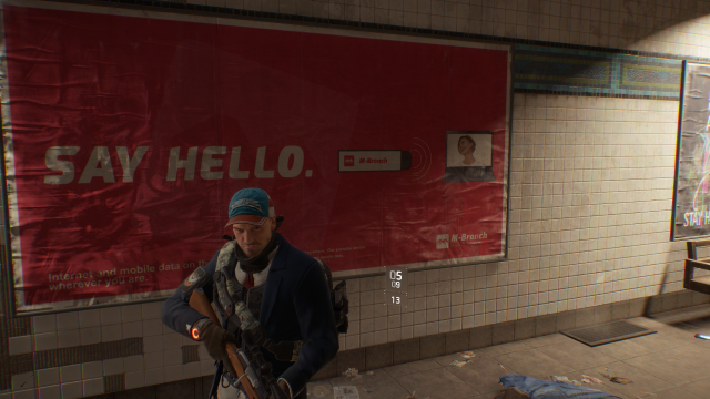 The Division Hello Sign
