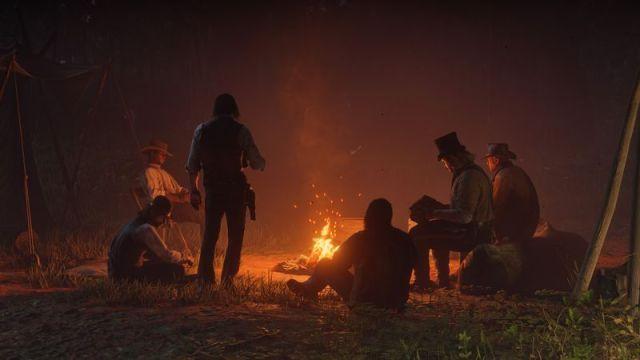 red dead redemption campfire