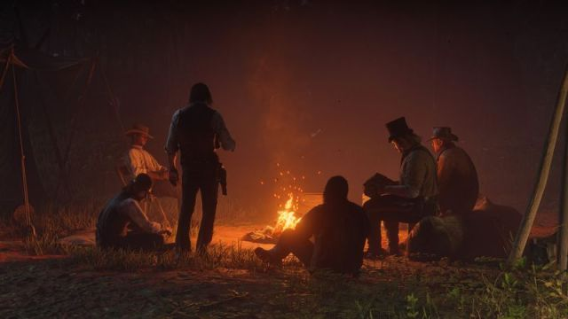 red dead redemption campfire