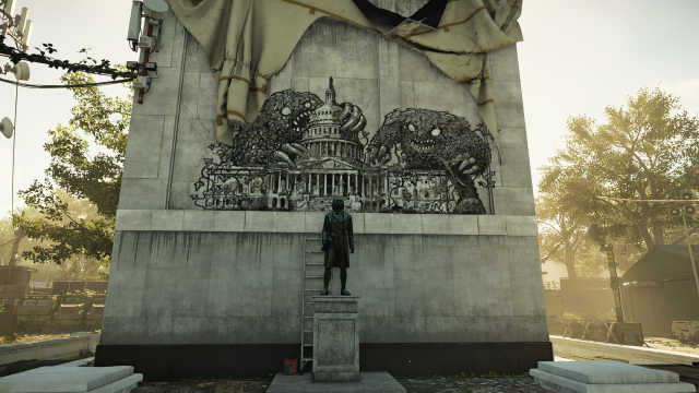 The Division 2 monument