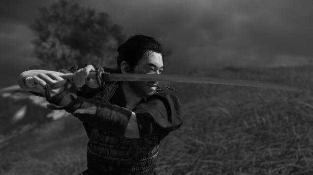 Ghost of Tsushima black and white Jin