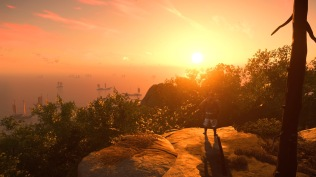 Ghost of Tsushima sunset